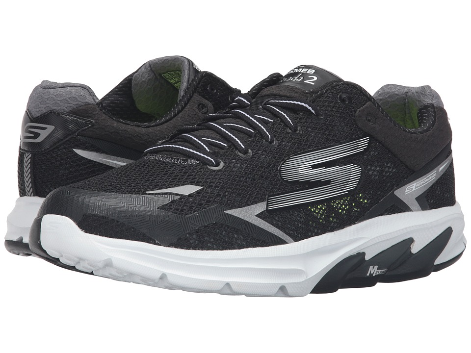 SKECHERS - Go Meb Strada 2 (Black/White) Men's Running Shoes