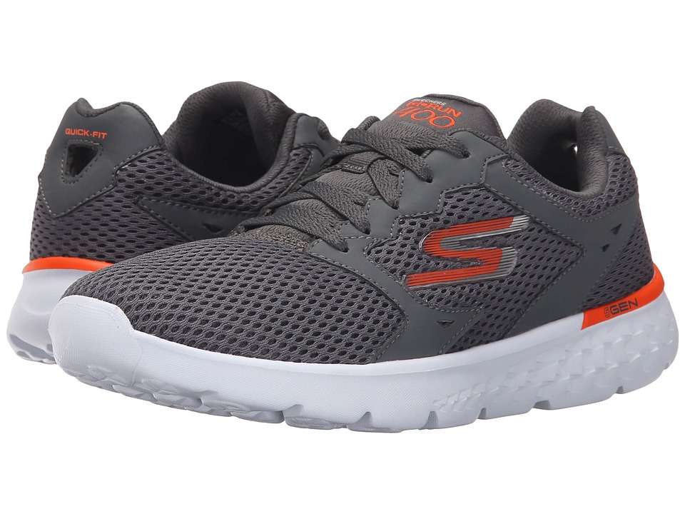 SKECHERS - Go Run 400 (Charcoal/Orange) Men's Running Shoes