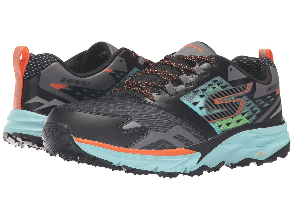 SKECHERS - Go Trail (Black/Aqua) Men's Running Shoes