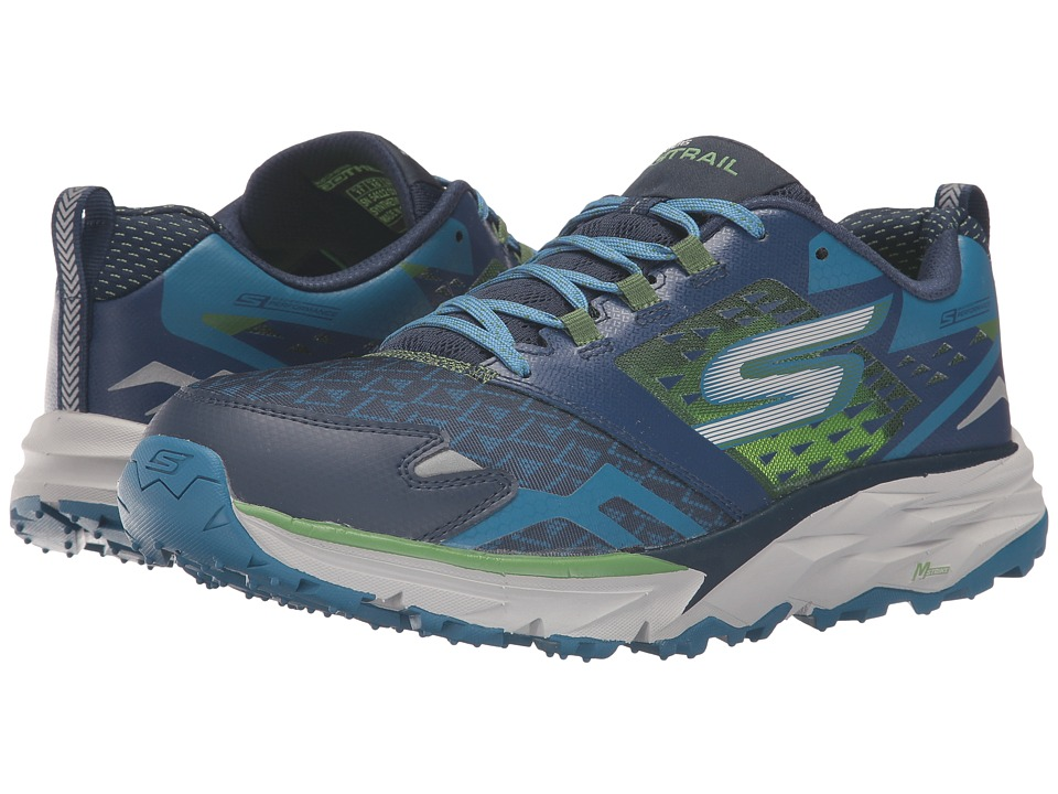 SKECHERS - Go Trail (Navy/Green) Men's Running Shoes