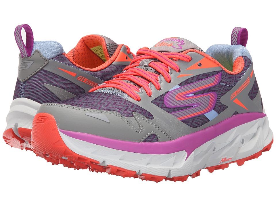 SKECHERS - Go Trail Ultra 3 (Light Gray/Purple) Women's Running Shoes