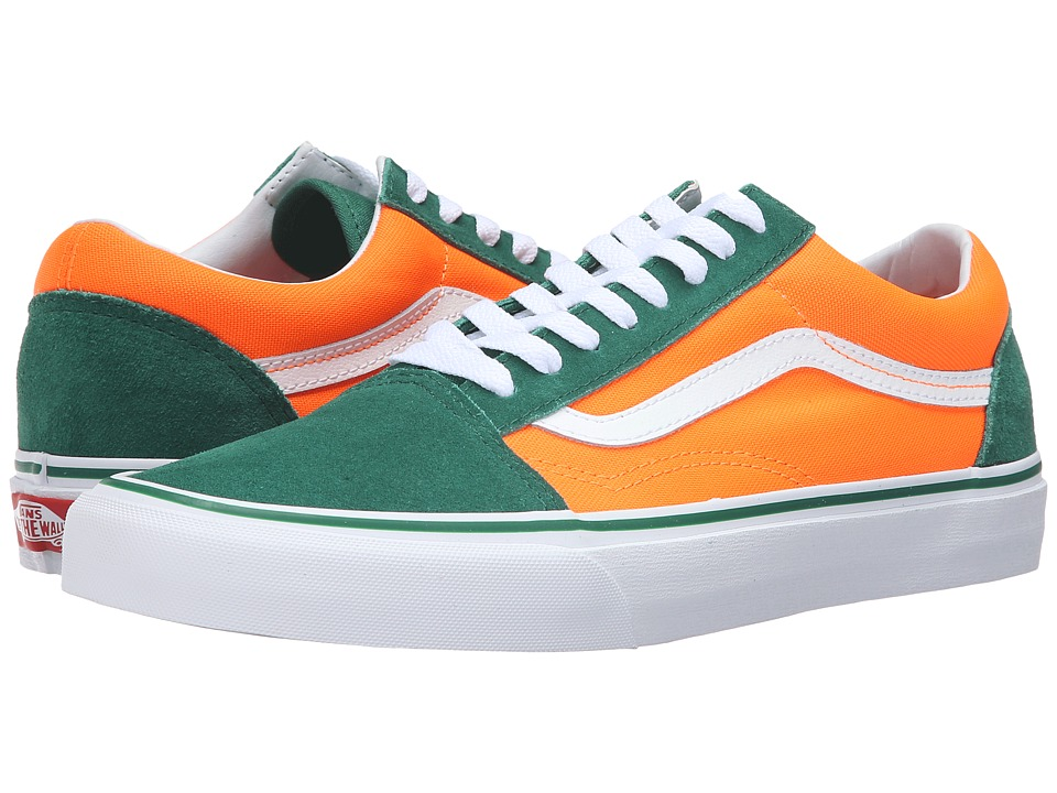 Vans - Old Skool ((Brite) Verdant Green/Neon Orange) Skate Shoes