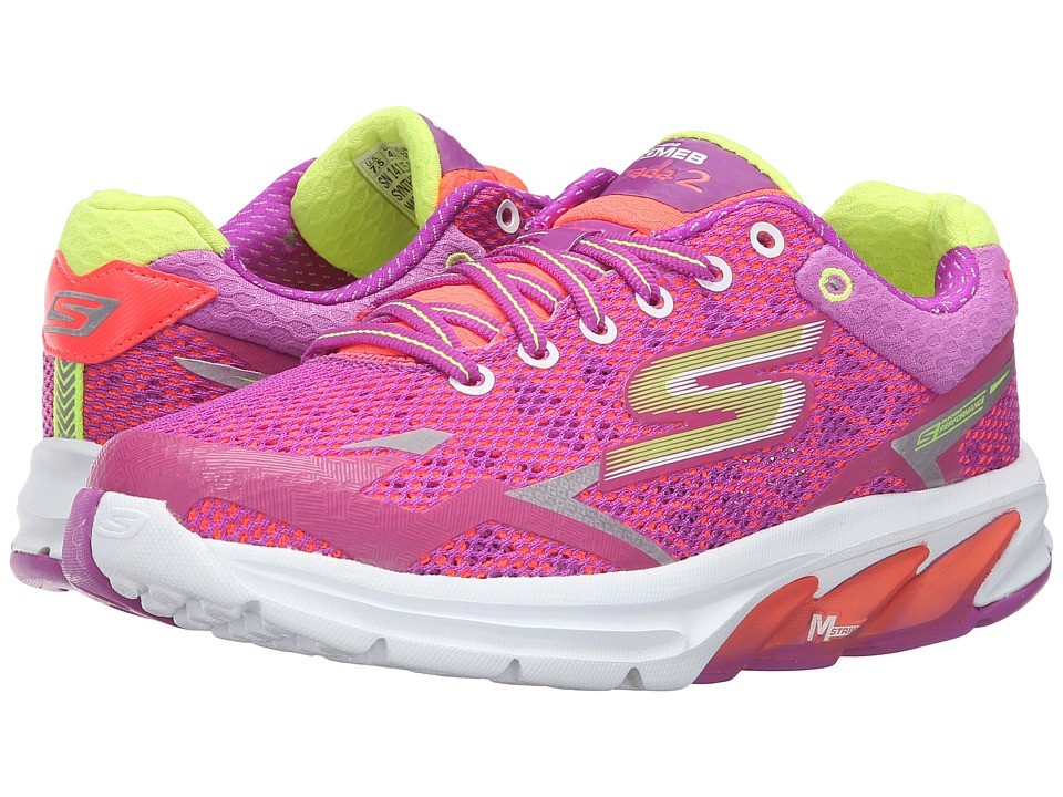 SKECHERS - Go Meb Strada 2 (Pink/Purple) Women's Running Shoes