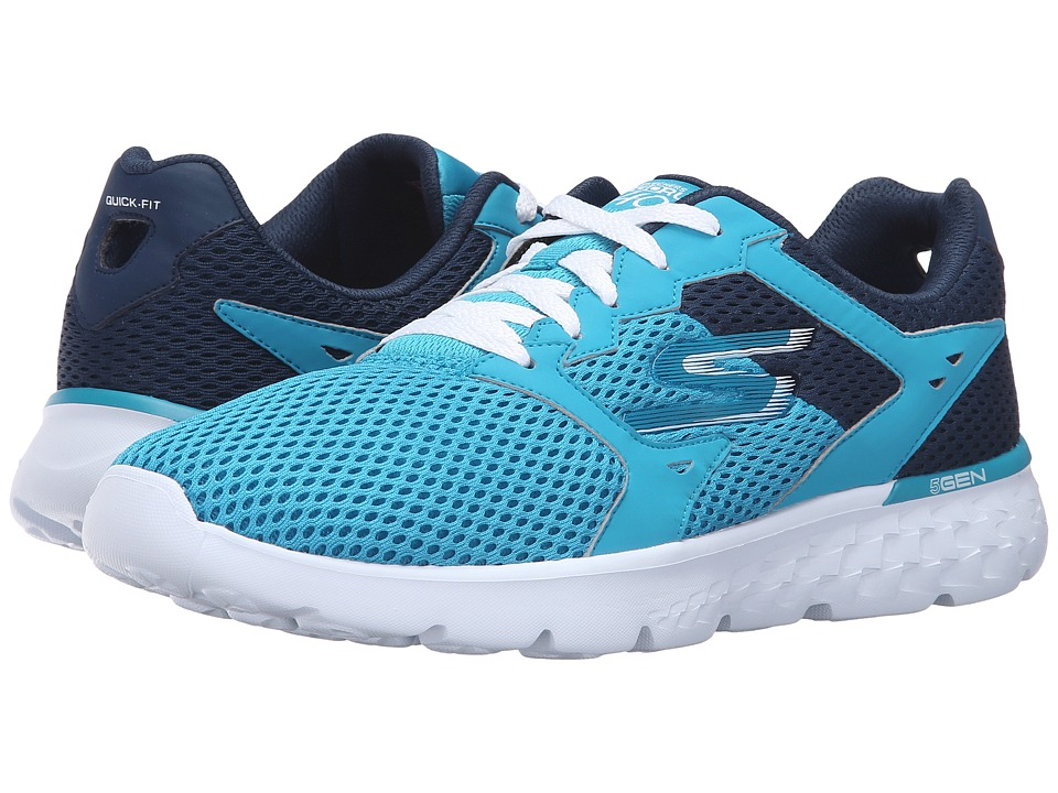 SKECHERS - Go Run 400 (Teal/Navy) Women's Running Shoes