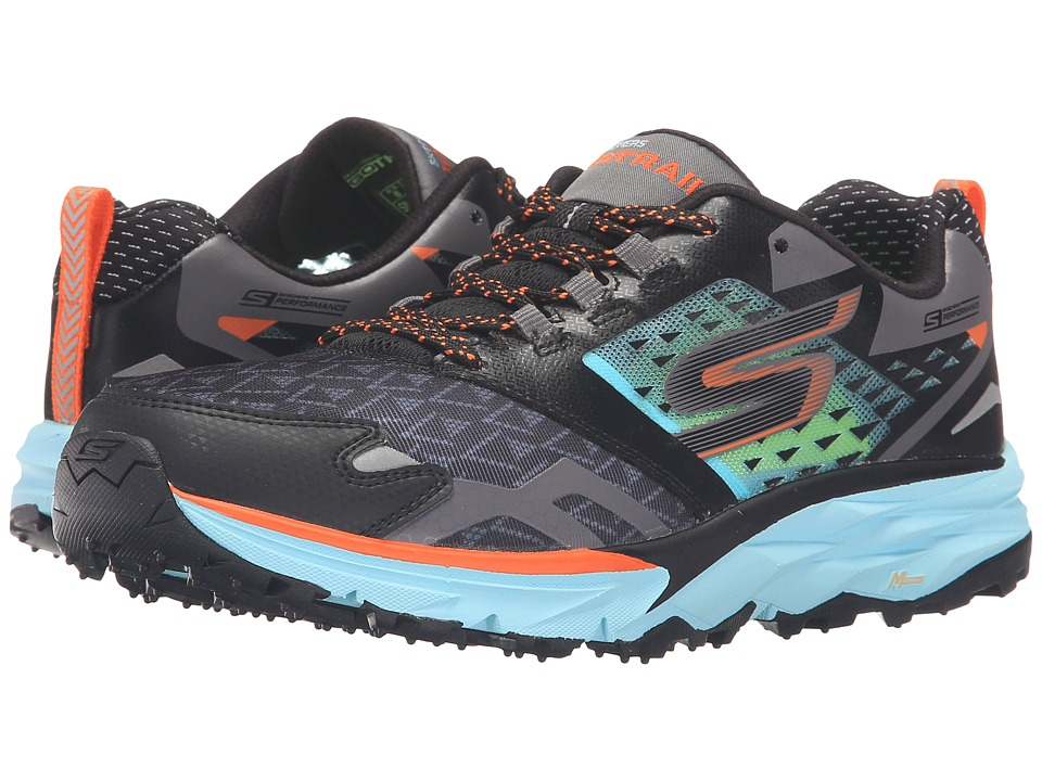 SKECHERS - Go Trail (Black/Aqua) Women's Running Shoes