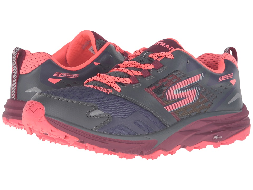 SKECHERS - Go Trail (Charcoal/Multi) Women's Running Shoes