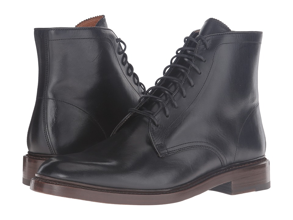 Frye - Jones Lace-Up (Black Vintage Veg Tan) Men's Boots