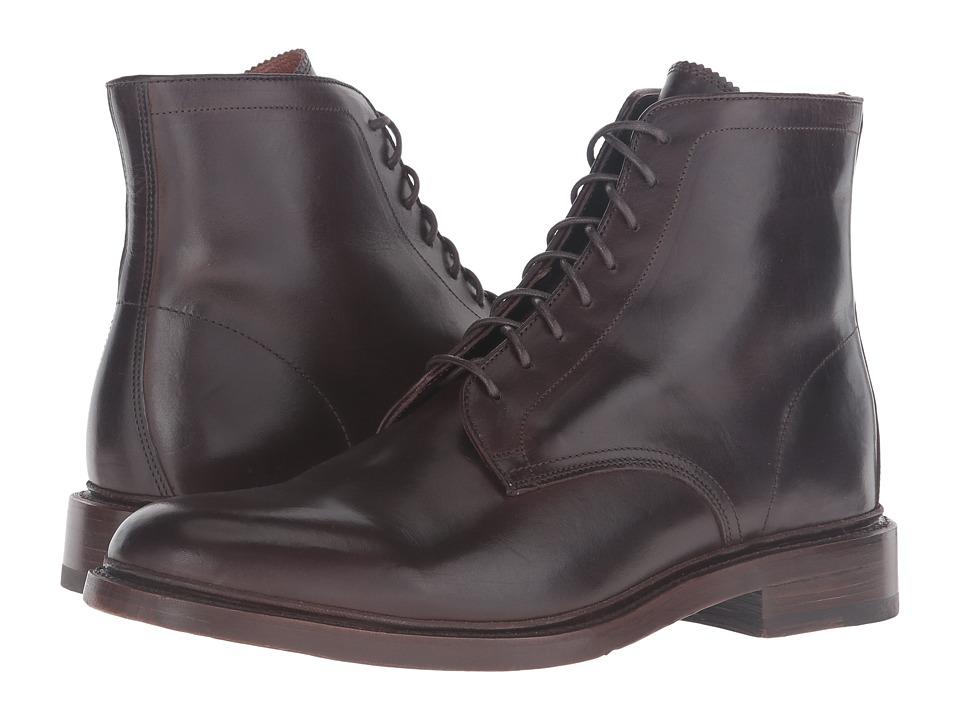 Frye - Jones Lace-Up (Chocolate Vintage Veg Tan) Men's Boots