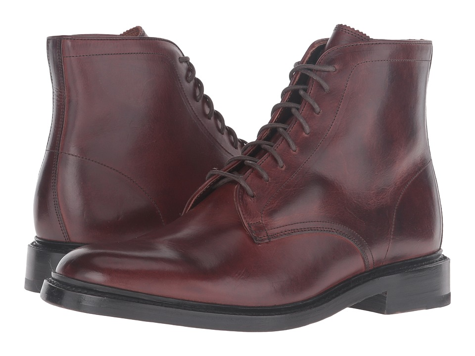 Frye Jones Lace-Up (Brown Vintage Veg Tan) Men