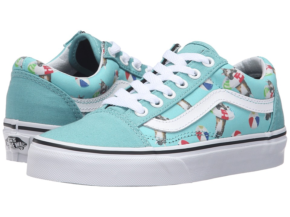 Vans - Old Skool ((Pool Vibes) Aqua Sea/True White) Skate Shoes