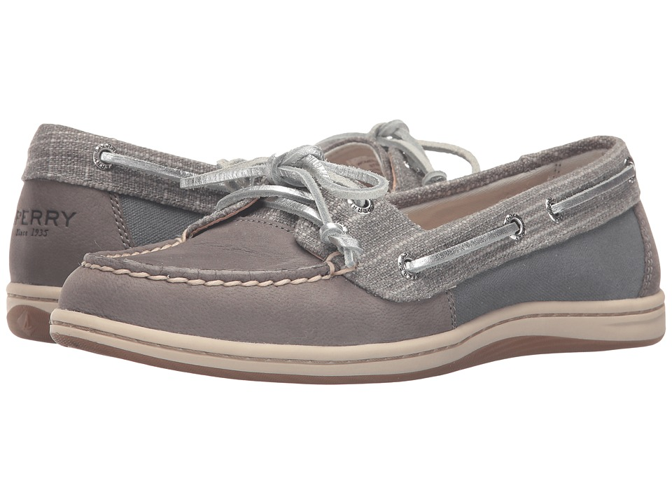 Sperry - Firefish Metallic Silver (Grey) Women's Lace Up Moc Toe Shoes