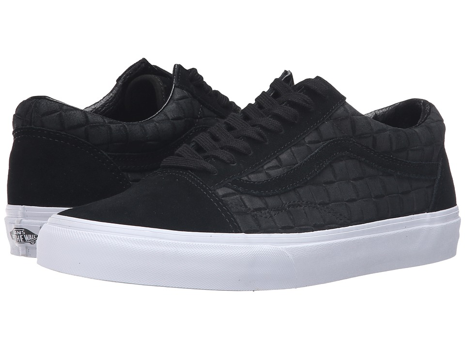 Vans - Old Skool ((Suede Checkers) Black) Skate Shoes