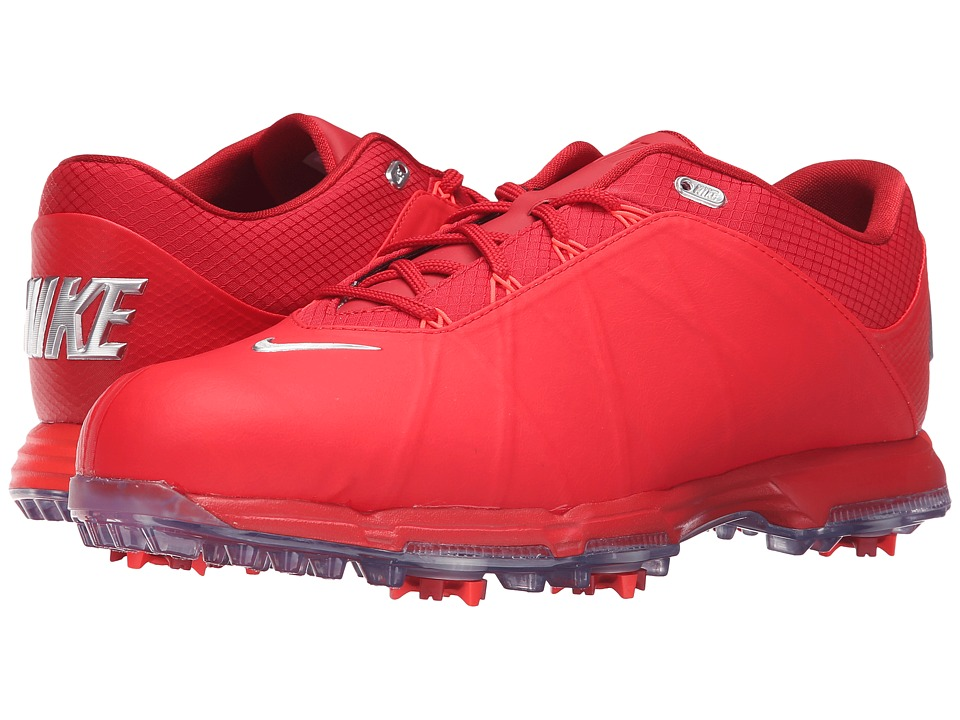Nike Golf - Nike Lunar Fire (University Red/Metallic Silver/Gym Red) Men's Golf Shoes