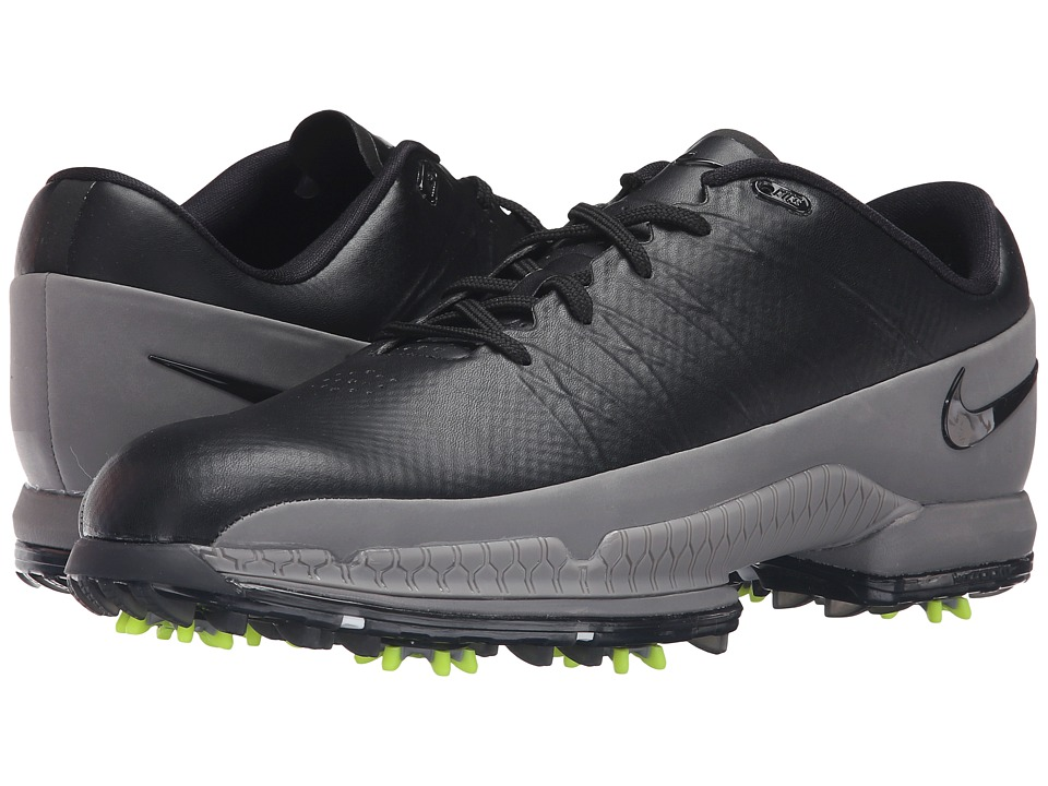 Nike Golf - Air Zoom Attack (Black/Black/Volt/Cool Grey) Men's Golf Shoes