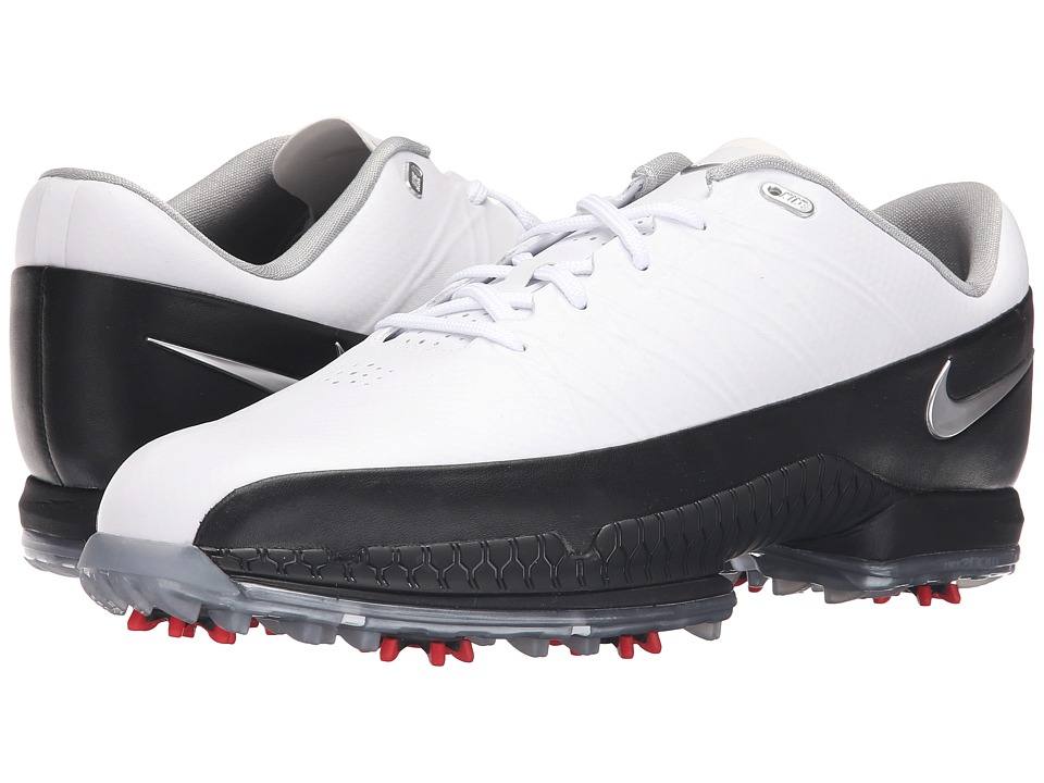 Nike Golf - Air Zoom Attack (White/Metallic Silver/Black/University Red) Men's Golf Shoes