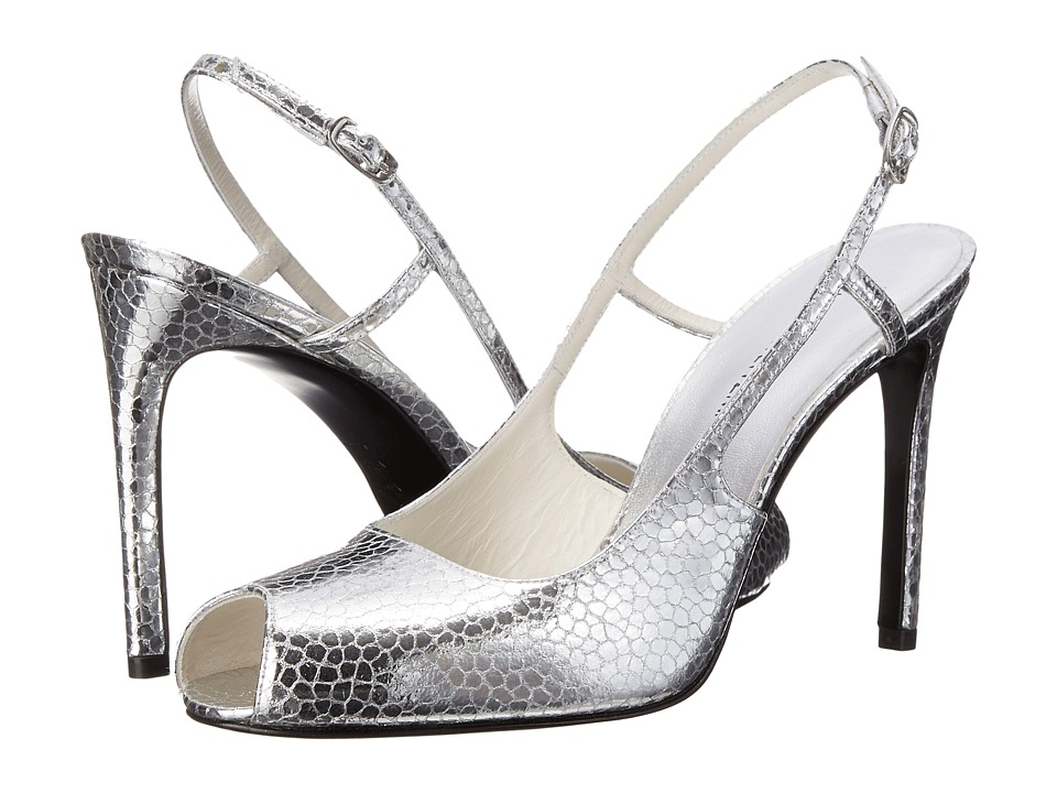 Stuart Weitzman Bridal & Evening Collection Truelove (Silver Shatter Nappa) High Heels