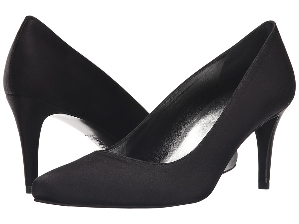Stuart Weitzman - Tessa (Black Satin) High Heels