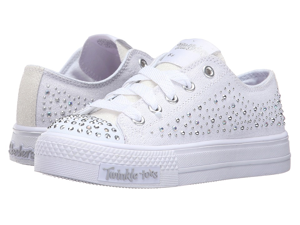 SKECHERS KIDS - Shuffles (Little Kid/Big Kid) (White) Girl's Shoes
