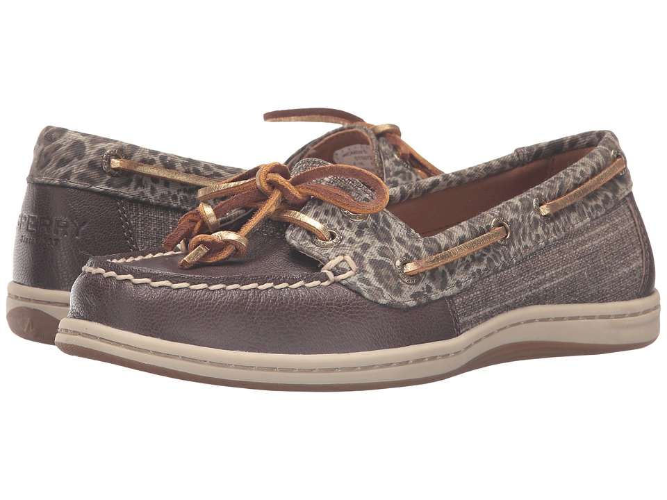 Sperry - Firefish Cheetah (Khaki) Women's Lace Up Moc Toe Shoes