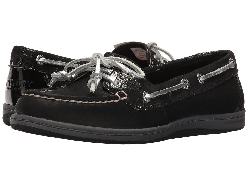 Sperry - Firefish Snake (Black) Women's Lace Up Moc Toe Shoes