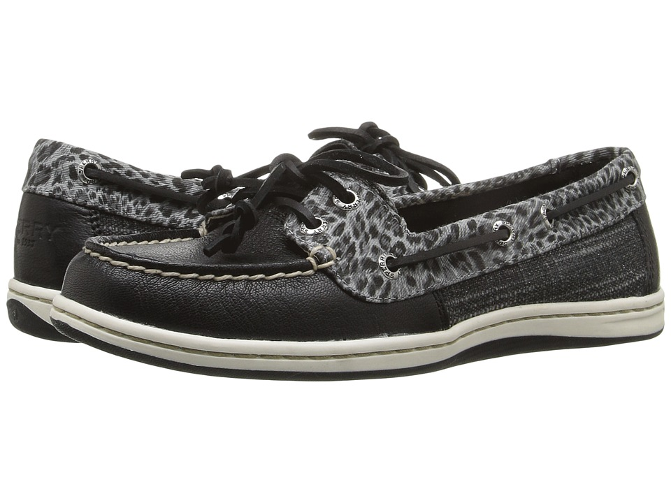 Sperry - Firefish Cheetah (Black) Women's Lace Up Moc Toe Shoes