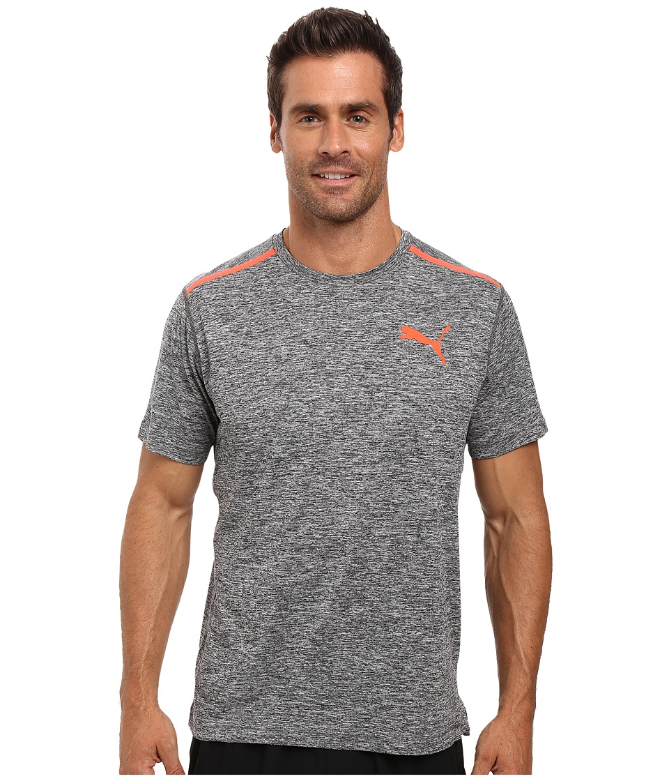 PUMA - Bonded Tech Short Sleeve Tee (Dark Gray Heather/Puma Black) Men's T Shirt