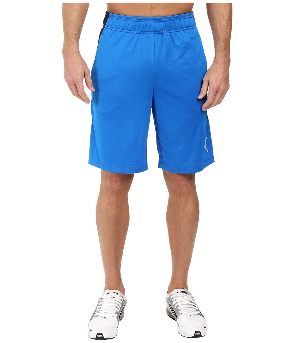 PUMA - Motion Flex Shorts (Electric Blue Lemonade/Peacoat) Men's Shorts