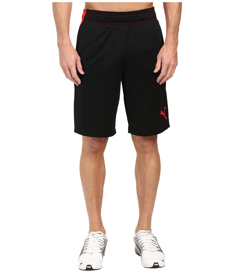 PUMA - Motion Flex Shorts (PUMA Black/PUMA Red) Men's Shorts