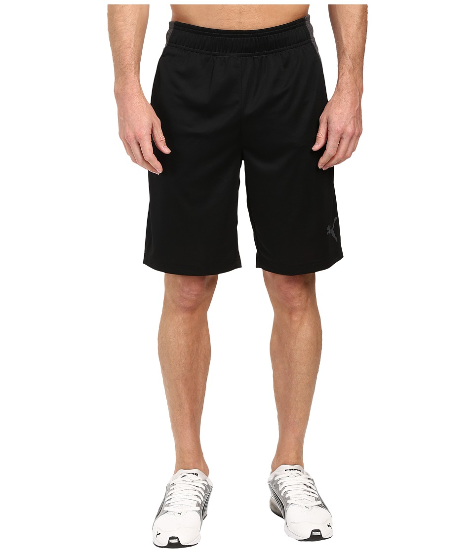 PUMA - Motion Flex Shorts (Puma Black/Asphalt) Men's Shorts