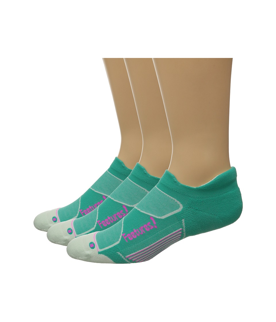 Feetures - Elite Max Cushion No Show Tab 3-Pair Pack (Atlantis/Fuchsia) No Show Socks Shoes