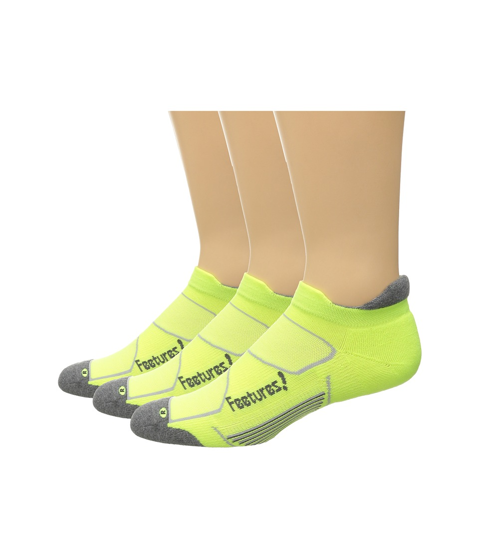 Feetures - Elite Max Cushion No Show Tab 3-Pair Pack (Reflector/Carbon) No Show Socks Shoes