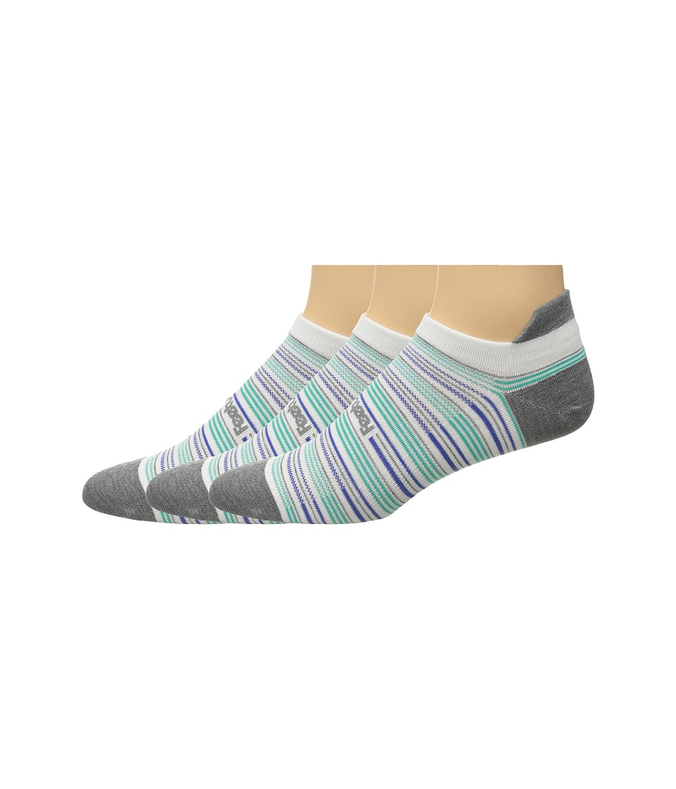Feetures - Ultra Light No Show Tab 3-Pair Pack (Heather Gray Multi/Stripe) No Show Socks Shoes