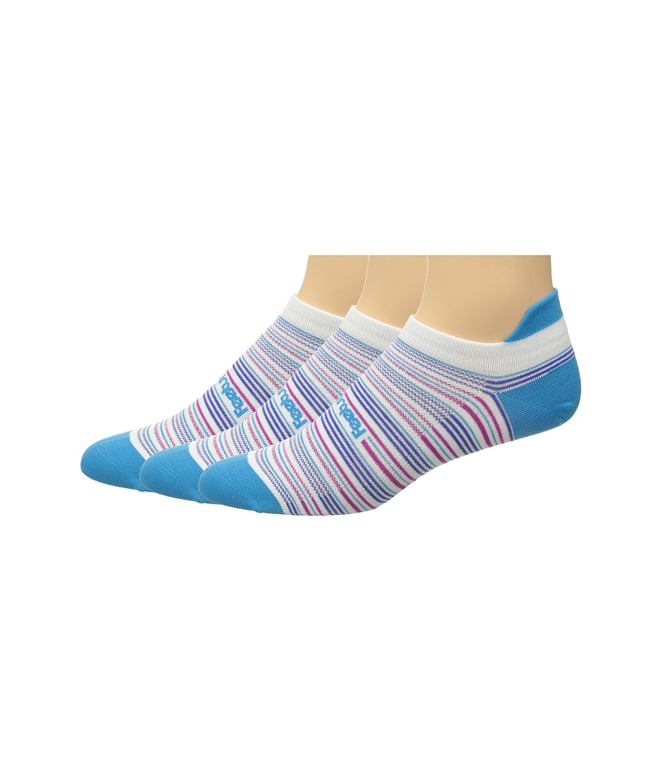Feetures - Ultra Light No Show Tab 3-Pair Pack (Hawaiian Blue Multi/Stripe) No Show Socks Shoes