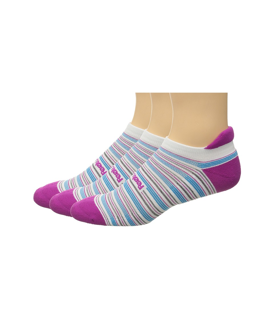 Feetures - Cushion No Show Tab 3-Pair Pack (Berry Multi/Stripe) No Show Socks Shoes
