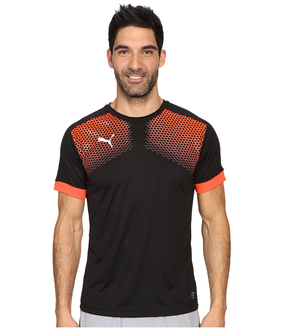 PUMA IT EVOTRG Graphic Tee Touch (Puma Black/Red Blast) Men