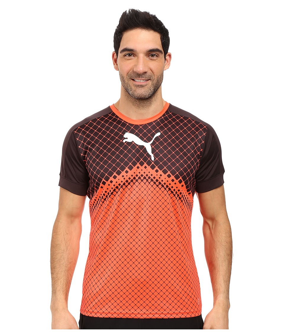 PUMA IT Evotrg Graphic Tee (Red Blast/Puma Black) Men