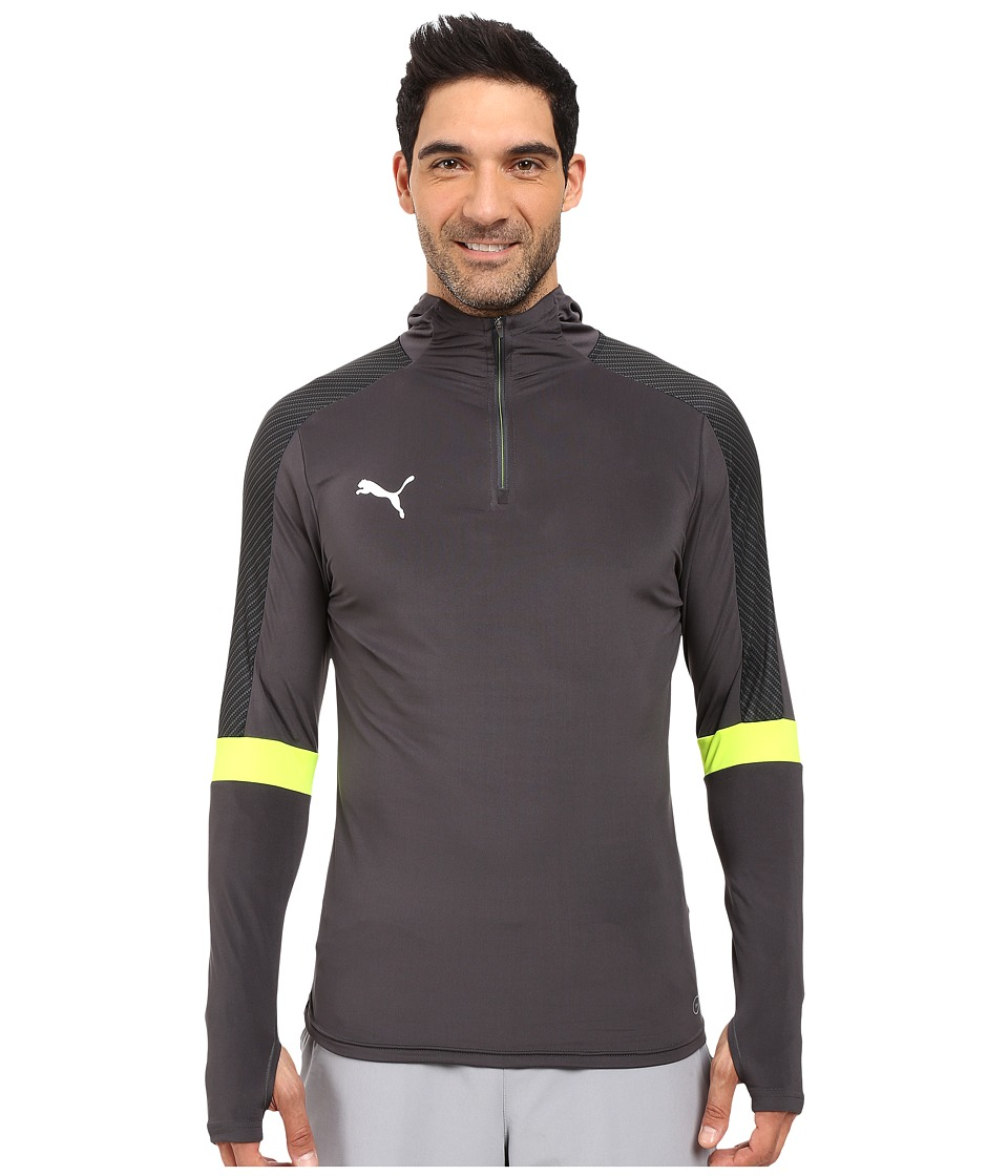 PUMA - IT Evotrg Hoodie (Asphalt/Safety Yellow) Men's Sweatshirt