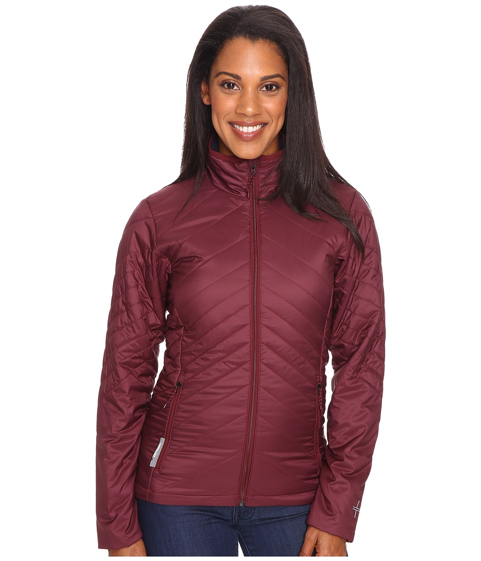 Icebreaker Stratus Long Sleeve Zip (Redwood/Stealth/Redwood) Women