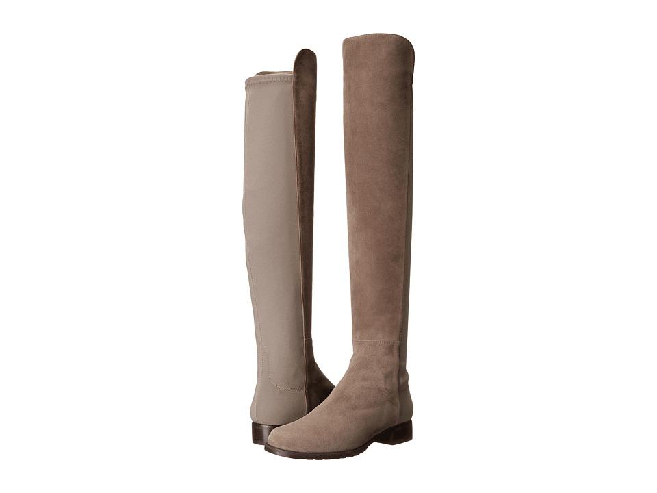 Stuart Weitzman 5050 Praline Suede Womens Pull-on Boots