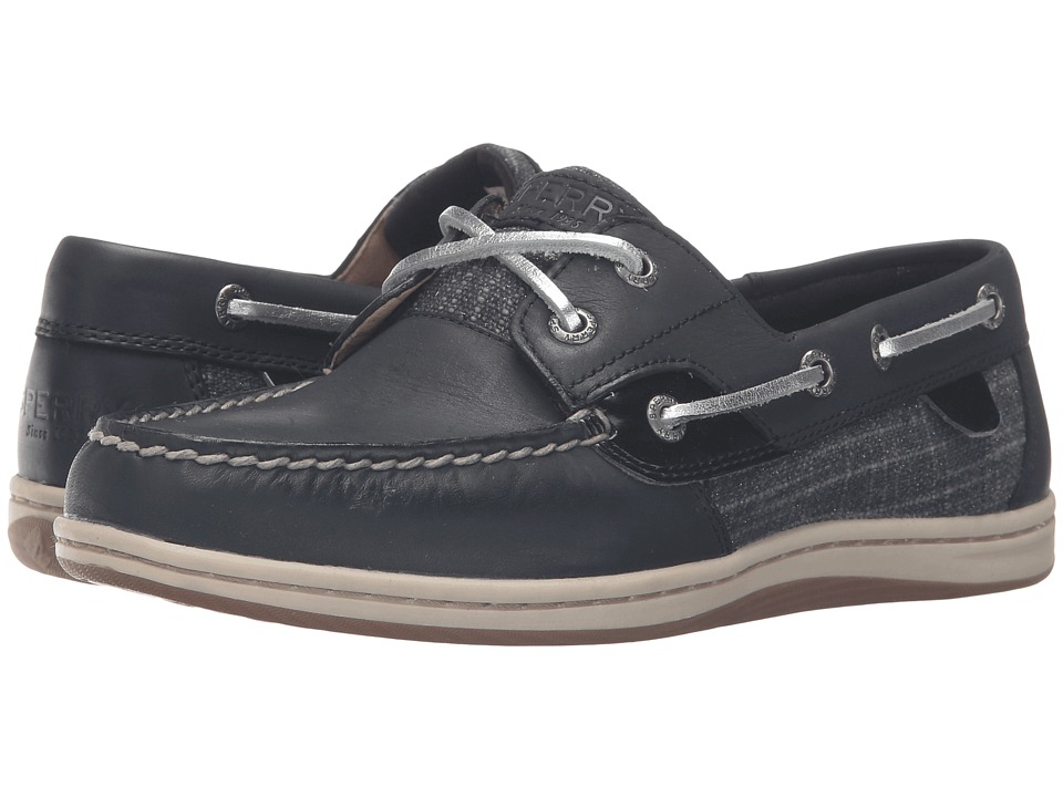 Sperry - Koifish Metallic Sparkle (Black) Women's Lace Up Moc Toe Shoes