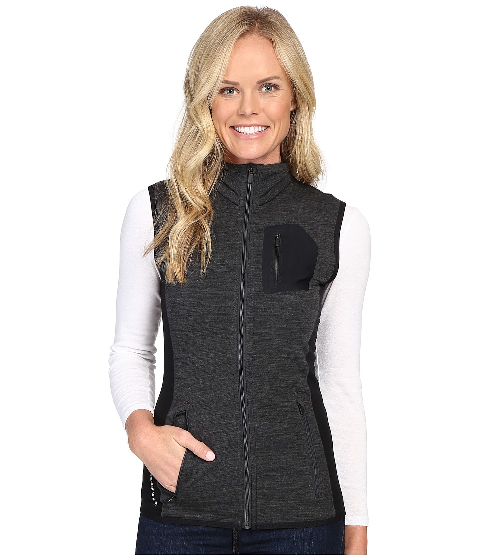Icebreaker - Atom Vest (Jet Heather/Black/Jet Heather) Women's Vest