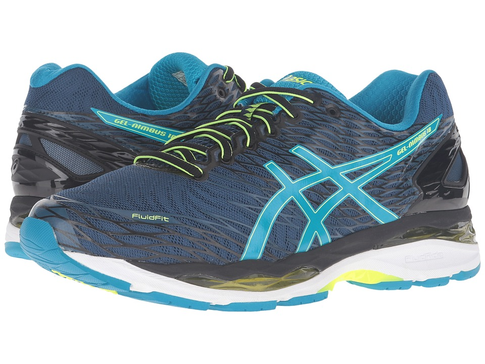 ASICS - Gel-Nimbus 18 (Poseidon/Blue/Yellow) Men's Running Shoes
