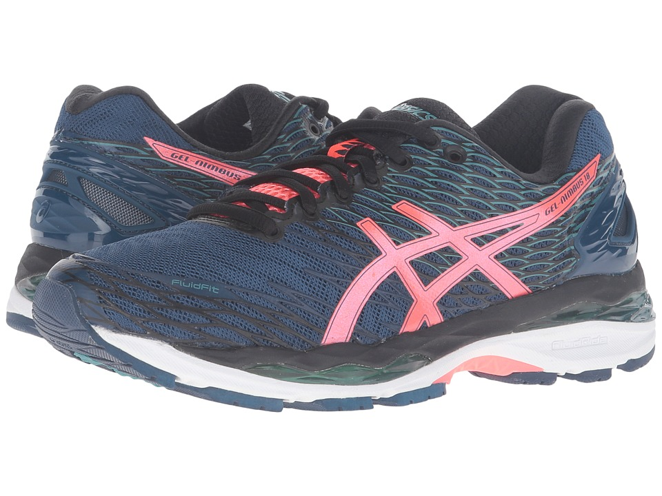 ASICS - Gel-Nimbus 18 (Poseidon/Flash Coral/Black) Women's Running Shoes