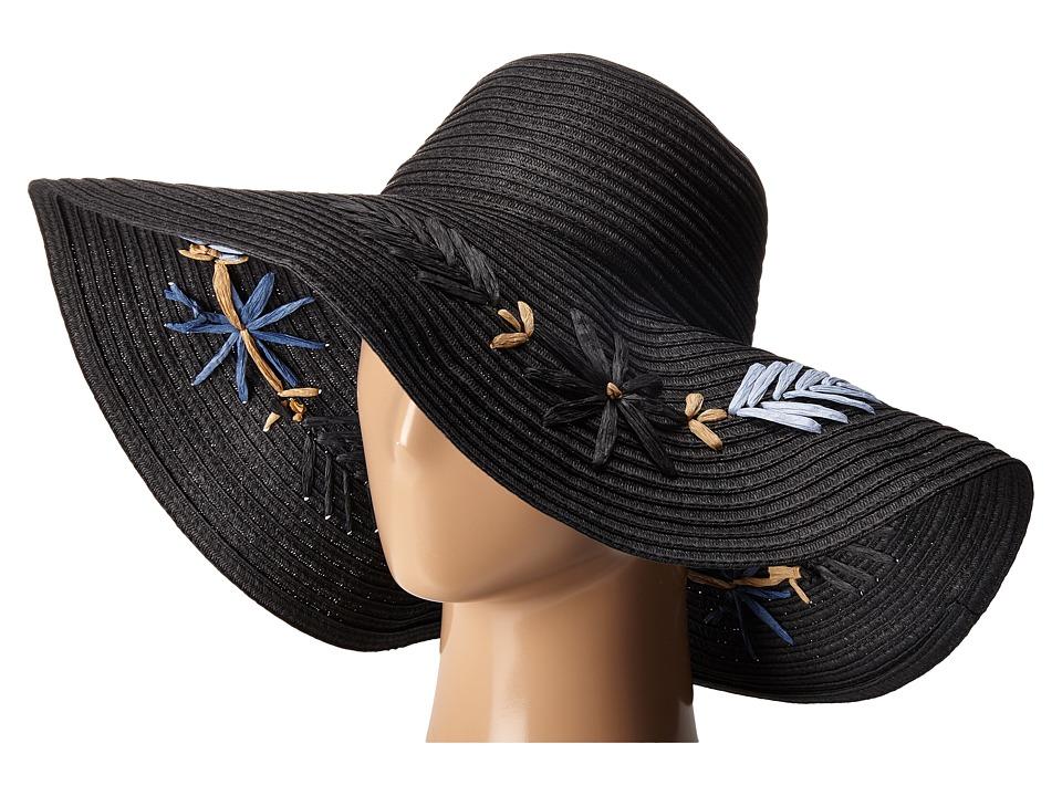 BCBGMAXAZRIA - Floral Floppy (Black) Caps