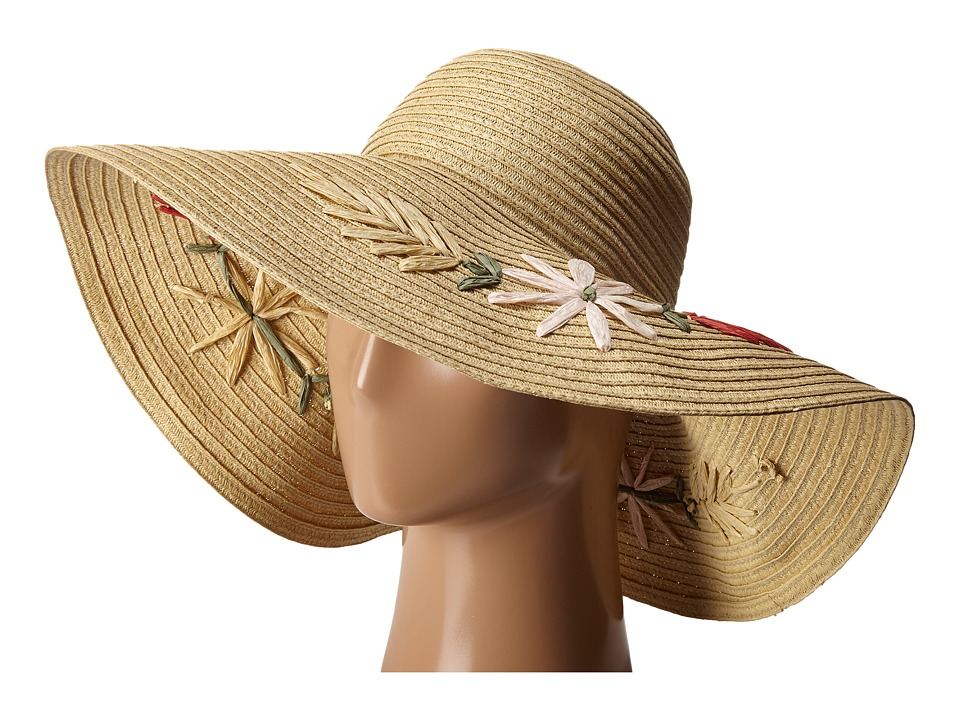 BCBGMAXAZRIA - Floral Floppy (Natural) Caps