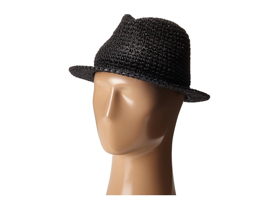 BCBGMAXAZRIA - Crochet Fedora (Black) Fedora Hats