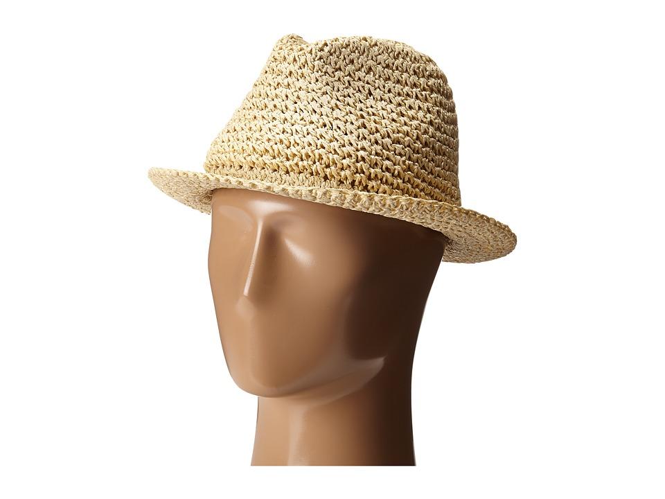 BCBGMAXAZRIA - Crochet Fedora (Natural) Fedora Hats