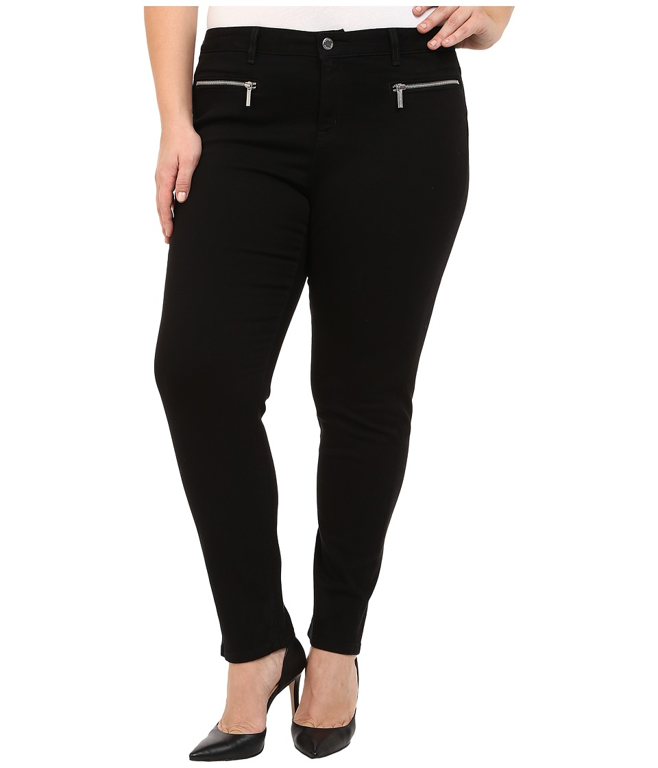 MICHAEL Michael Kors - Plus Size Denim Izzy Skinny w/ Zipper (Black/Silver) Women's Jeans