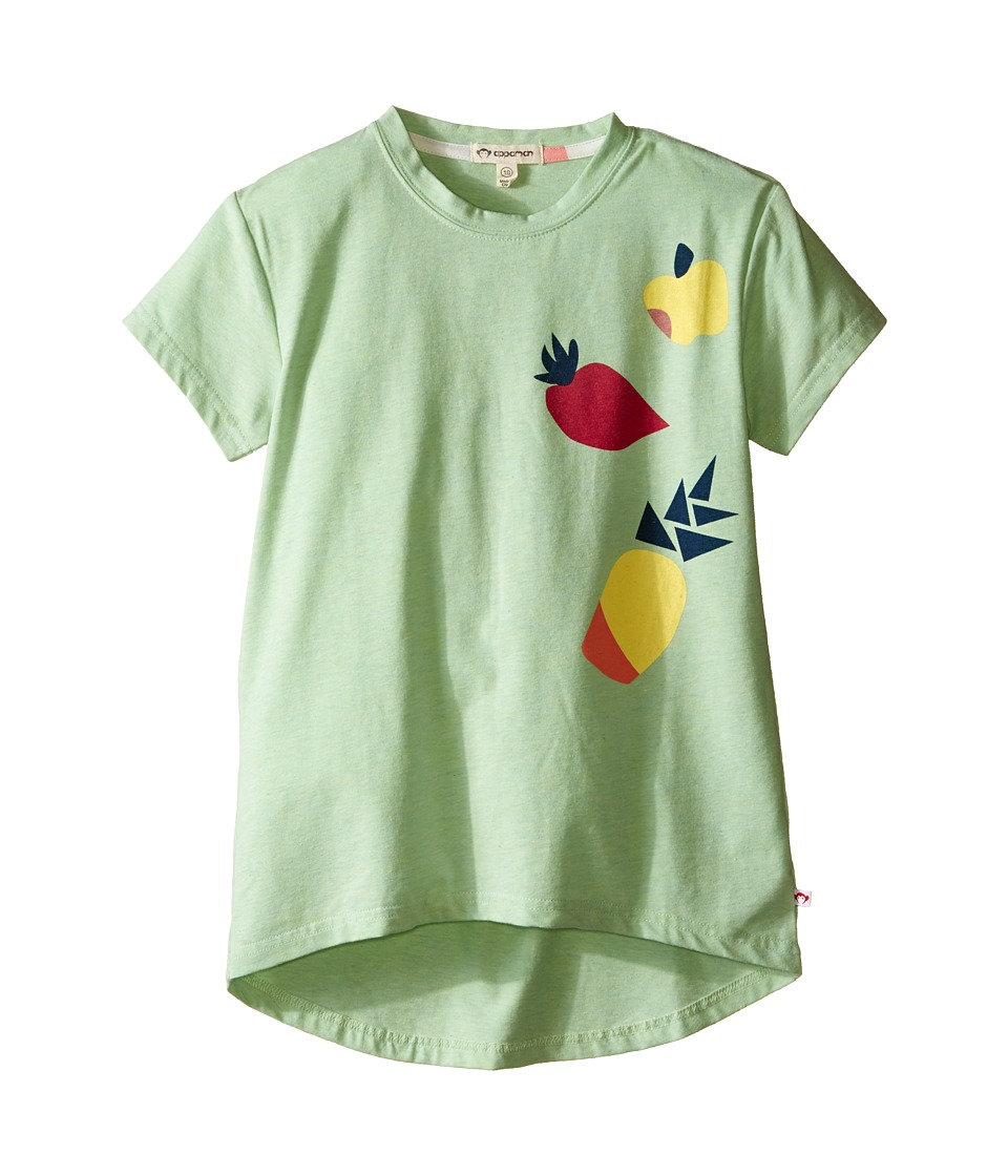 Appaman Kids - Super Soft Short Sleeve Circle Tee with High-Low Hem (Toddler/Little Kids/Big Kids) (Pastel Green Heather) Girl's T Shirt