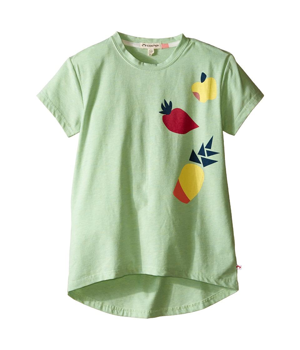 Appaman Kids - Super Soft Short Sleeve Circle Tee with High-Low Hem (Toddler/Little Kids/Big Kids) (Pastel Green Heather) Girl's T Shirt